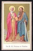 SANTINO - IMAGE PIEUSE - CHROMOLITHO DOREE  * PETRUS & PAULUS * - Santini