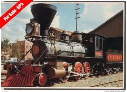 HISTORICAL LOCOMOTIVE AT RAILROAD MUSEUM OLD SACRAMENTO LOCOMOTIVA FG V SEE 2 SCANS - Eisenbahnen