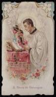 SANTINO - IMAGE PIEUSE - CHROMOLITHO DOREE  * S. LOUIS DE GONZAGUE * - Images Religieuses