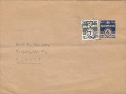Denmark Uprated Postal Stationery Ganzsache Entier 4 Ø Streifband Wrapper Bande Journal To ODENSE - Ganzsachen