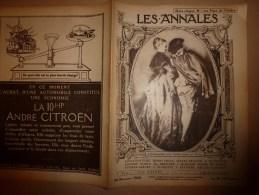 1920 LES ANNALES :Watteau Et Les Petits Maitres Français En Allemagne ; Eaux-Fortes Originales; Les Exilés...etc.. - Newspapers