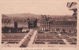 """CPA Paris - Jardin Des Tuileries - Bureau Des Poste Ambulant """"Paris Brest Rapide"""" - 1923 (1151) - Parks, Gardens"""