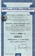 SOCIETA´ PER LA FILATURA DEI CASCAMI DI SETA-MILANO-N.10 OBLIGAZIONI - Textile