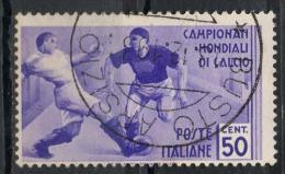 Italia Regno 1934 - Mondiali Di Calcio (Sassone 359) - 1900-44 Vittorio Emanuele III