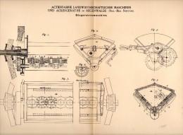 Original Patentschrift - Maschinen Und Ackergeräthefabrik In Regenwalde / Resko , 1888 , Düngerstreumaschine !!! - Maschinen
