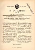 Original Patentschrift -  P. Higgins In Kilbowie , Scotland , 1892 , Riveting Machine !!! - Tools