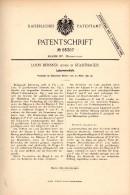 Original Patentschrift - Louis Beissner In Stadthagen B. Schaumburg , 1892 , Lukenverschluß , Hochbau , Bau !!! - Maschinen