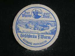 Sous Bocks / Beermat / Bierviltjes / Coaster / Bierdeckel /  Bräuerei, Wurm Bier  -  Pils-Export - Sous-bocks