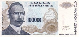 BOSNIE-HERZEGOVINE     100 000 000 Dinara   Emission De 1993   Pick 154 A     ***** BILLET  NEUF ***** - Bosnie-Herzegovine