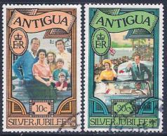 Antigua, Scott # 459-60 Used Silver Jubilee, 1977 - Antigua & Barbuda (...-1981)