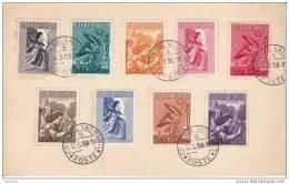 1956  Posta Aera Serie Completa  Sass 24-32 Sul Cartoncino - Poste Aérienne