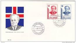 1973  Asgeirsson, Past President  Sc 456-7 Unaddressed Cover - FDC