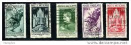 VATICAN 1936  Exposition De La Presse Catholique  5 Valeurs Oblit Y Compris Le 75 Cent. Sass 47-51 Mi Nr 51-5 - Vatican