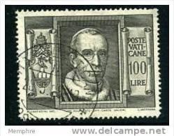 VATICAN 1949  100 L. Pie XII  Sass 131  Mi Nr  158A - Oblitérés