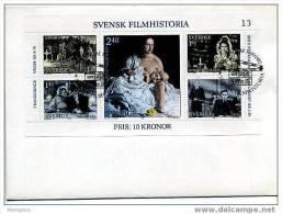 SWEDEN 1981 FDC Swedish Films SS Scott 1386   Mi Nr Block 9 - FDC