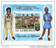 LIBERIA  1971 Jamboree Scout Bloc Feuillet  Scott C188 Oblit. - Liberia