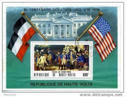 HAUTE VOLTA 1976 Bi Centenaire Des USA  Bloc Feuillet Poste Aérienne Scott C244 Oblit - Obervolta (1958-1984)