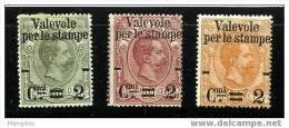 ITALIE 1890 Colis Postaux Surchargés 0,10, 0,50 Et 1,25  Neufs - Ungebraucht