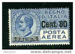 ITALIE 1927  1 L. Surchargé «Cent. 80» - 1900-44 Victor Emmanuel III