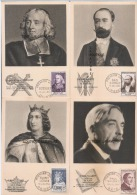 OBLITERATIONS 1° JOUR--1°Série C.M- Célébritées Du XIII° Au XX° Siècles ---Complete 6 Cartes-Tb état - 1950-59