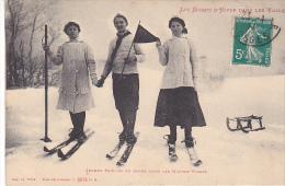23036 Sports Hiver Dans Els Voges -hautes -jeunes Skieurs Repos (1911)- Welck Saint Die 8078 - Luge Ski Femme Homme