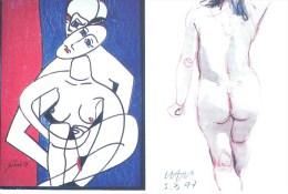 M> SCHIELE: Femme Nue [ Nu Carte De Gallerie D'art ] AD005 - Tableaux