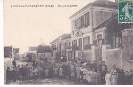 23054 FONTENAY-LE-FLEURY - La Mairie Les Ecoles - Ed Morin F L F - Enfants Enfant Classe
