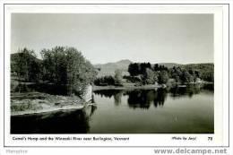VT BURLINGTON Camel's Hump And Winooski River  Real Photo Mint - Burlington