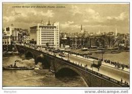 London Bridge And Adelaide House  Vintage Card Written On Back - London