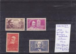 TIMBRE DE FRANCE NEUF**  Nr 437/39** LUXE 436** GRATUIT (coupure En Haut Du Timbre) 1939 COTE 48€ - France