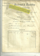 71 - Saône-et-loire - CHALON-SUR-SAONE - Facture BERTRAND & GANTILLON - Manufacture De Chapeaux De Paille – 1907 - 1900 – 1949