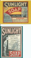 Sunlight 1885 Centenary 1985 2 Postcards Copyright Lever & Kitchen Pty Ltd 1985 Front & Back Shown - Advertising