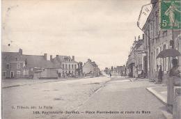 23060 FOULLETOURTE - Place Pierre Belon Et Route Du Mans. Ed Thibault La Fleche -femme Parapluie