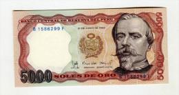 5000 SOLES    NEUF 4 - Pérou
