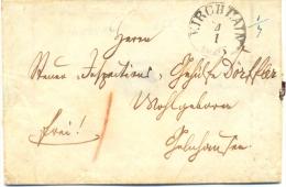Thurn Und Taxis, Brief Aus Kirchhain Nach Gelnhausen, 1855 - Tour Et Taxis