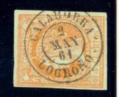 Año 1860 Edifil 52 4c Isabel II  Matasellos  Calahorra Logroño  Tipo II - 1850-68 Royaume: Isabelle II