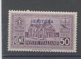 Eritrea 1931 Antoniano Cent. 50 - Eritrea