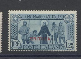 Eritrea 1931 Antoniano Lire 1,25 - Eritrea