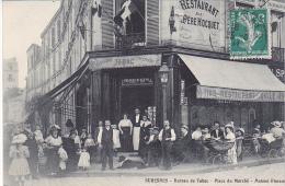 23082 Suresnes - Bureau De Tabac. Place Du Marché. Maison Florent -sans Ed - Restaurant Pere Hocquet Perroquet Tabac - Suresnes