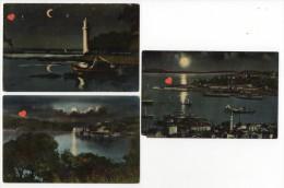 39287-ZE-TURQUIE-Constantinople-Lot De 3 CPA Diverses Vues De Nuit - Turchia