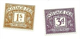 1968 - Gran Bretagna 67 + 72 Segnatasse, - Tasse