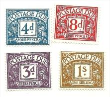 1968 - Gran Bretagna 67/78 + 71/72 Segnatasse, - Tasse