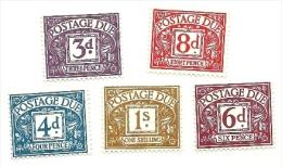 1968 - Gran Bretagna 67/78 + 70/72 Segnatasse, - Tasse