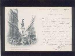 25 Besançon  Statue Jouffroy La Madeleine  Pas D´édit. , Animée ,attention Voir état   Précurseur - Besancon