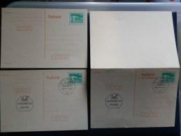 40/348  3 CP  OBL. + XX + REPONSE PAYEE - Postales - Usados