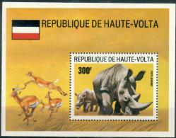 #3 - HAUTE VOLTA - BLOC N° 30 - NEUF SANS CHARNIERE - LUXE - RHINOCEROS - FAUNE - Haute-Volta (1958-1984)