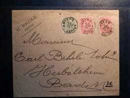 40/357  LETTRE  POUR BADEN OBL. ANVERS DEPART - 1905 Breiter Bart