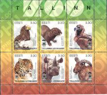 Ref. 311939 * MNH * - ESTONIA. 1997. ANIMALES DEL ZOO DE TALLIN - Pájaros