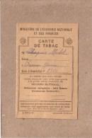 CARTE DE TABAC - Débit 355  , AUXERRE , YONNE - TENU PAR MR BLONDEAU - POUR MR CHAPUIS - Documents