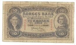 Norway 10 Kroner 1940 - Norvège